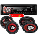Combo Stereo Pioneer Deh 1950 Usb Cd + 4 Parlantes 6x9 & 6,5
