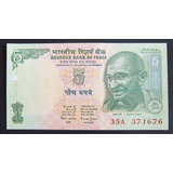 India Billete 5 Rupias 2011 Sc Pick 88a Mahatma Gandhi