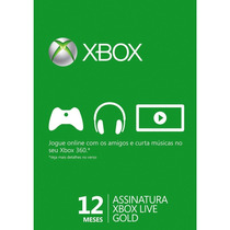 Xbox Live Gold Brasil Br Cartão 12 Meses Envio Imediato!