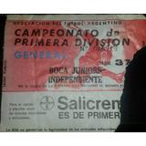 Entrada Boca 0 Independiente 0 Torneo Clausura 1991