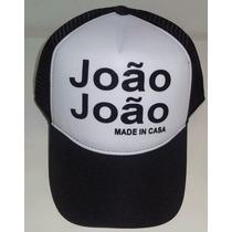 Boné Trucker Tela João João - Sátira Com Boné John John