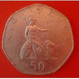 Moneda De 50 New Pence De Inglaterra Año 1980