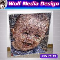 Cuadro Mural 30x40 Muchas Fotos Fotomosaico Personalizado