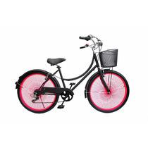 Bicicleta Urbana Pink Neón Rodada 26