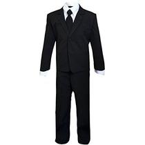 Disfraz Para Niños Niños Slenderman Agente Negro Traje Traj