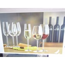 Set De 18 Copas Vino Y Champagne De Cristal Marca Bohemia