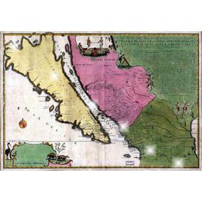 Lienzo Tela Mapa Isla California Nueva Carolina Padre Kino