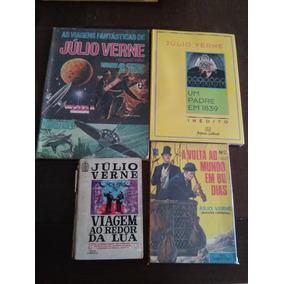 Julio Verne - Lote Com 2 Histórias Em Quadrinhos E 2 Livros