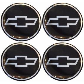 Jogo De Botons Chevrolet P/calota Ou Roda C/4 Peças 55mm