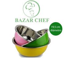 Bowl De Acero Inoxidable Color 21,5 Cm - Bazar Chef