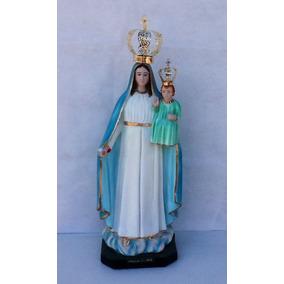 Imagem De Nossa Senhora Da Glória Em Gesso Com Coroa - 77cm