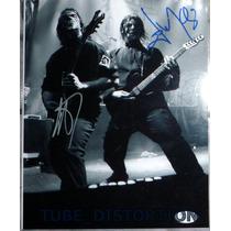 Jim Root E Mick Thomson Autógrafos Autenticados Jsa Slipknot
