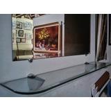 Espelho Bisote 100x70cm +aparador P/ Salão De Beleza E Salas