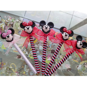 Recuerdos Plumas Pasta Minnie Mickey Mouse Hello Kitty