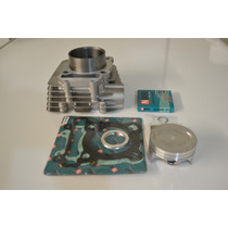 Cilindro Motor Fazer 250cc Completo:camisa/anel/pistão