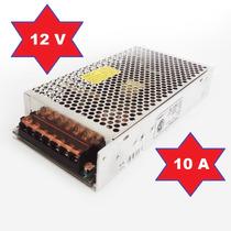 Fuente Switching 12v 10a Amp Metalica Regulada Tira Led Cctv