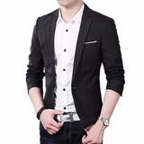 Blazer Slim Fit Luxo Casual Masculino Super Promoção + Fre G