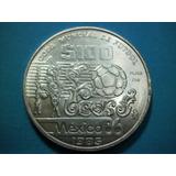 Moneda Plata 100 Pesos Mundial Fut Mexico 86 Envio Gratis