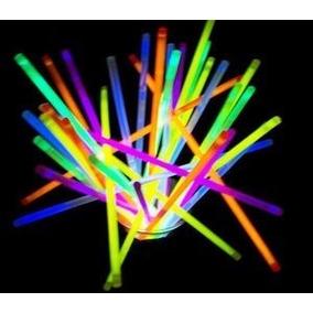 100 Pulseras Neon Cyalume 5 Colores Fiestas Bares Djs