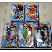 Super Hero Girls Dc 5 Muñecas Mattel Incluye Harley Quinn