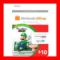 Tarjeta Nintendo Eshop Card $10 Usd 3ds Dsi Wii U