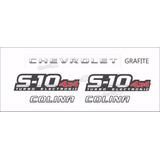 Faixa Adesivo Chevrolet S10 Colina 4x4 2009 Grafite S10kit11