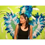 Espaldar +casco Plumas Para Carnaval O 15 Años , Carioca