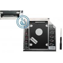 Caddy Adaptador Dvd Sata 12.7mm 2 Discos Duros En Tu Laptop