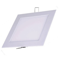 Kit 10 Painel Plafon Luminária Led Quadrado Embutir Slim 25w