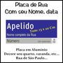 Placa De Rua Cidade De São Paulo Com Seus Dizeres