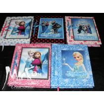 Diario Agenda Frozen Libro Anotador C/lapicer Oferta Fiestas