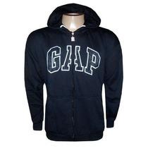 Blusa Gap De Moletom Casaco Jaqueta Com Ziper Preta