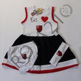 Vestido Infantil Flamengo
