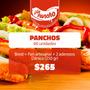 Combo Fiesta 60 Panchos Con Pan Y Aderezos!