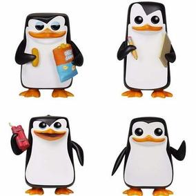 Funko Pinguins Madagascar - Capitão, Kowalski, Rico, Recruta