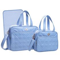 Kit Bolsas Maternidade Tigor T.tigre Gde E Peq. Azul