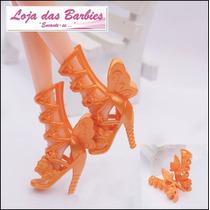 Sapato Luxo Para Boneca Barbie * Sapatinho Fadas Sandália