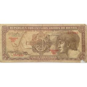 Cédula De Cinco Cruzeiros - Esfinge Do Índio - Bc