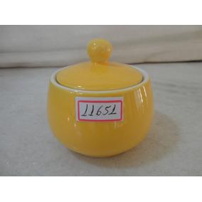 #11651 - Açucareiro Porcelana Amarela Liso, Italiano!!!