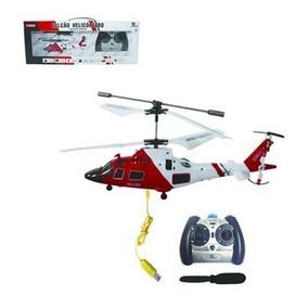 Mini Helicoptero Falcão 3ch Gyro Controle Voa Dentro De Casa