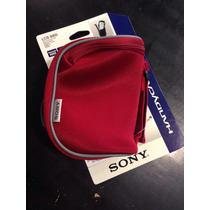 Estuche Funda Sony Rojo Para Varios Modelos De Handycam