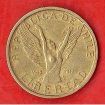 Chile 10 Pesos 1986 - Chilena Alada Rompe Cadenas -