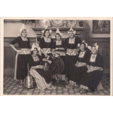 Volendam Holland Antigua Postal Foto Mujeres Trajes Tipicos