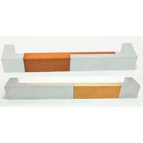 Manija En Aluminio Y Madera Para Mueble