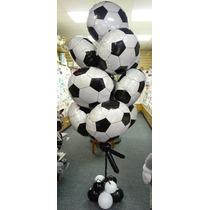 Globo Metalico Balon Football, Lote De 10 Piezas