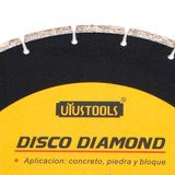 Disco Diamantado 350 Mm Concreto Pedra Tijolo Seco Furo 25,4