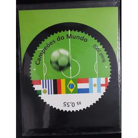 Brasil. Coleção Campeões Do Mundo. Cartela Dos Correios.