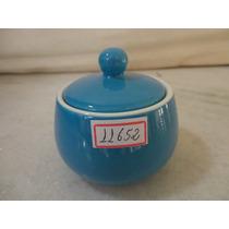 #11652 - Açucareiro Porcelana Azul Liso, Italiano!!!