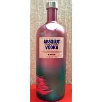 Botella De Absolut Unique. Edición Limitada