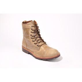 Zapato Hombre Borcego Zurich 5600 Caña Larga Cuero. Marron